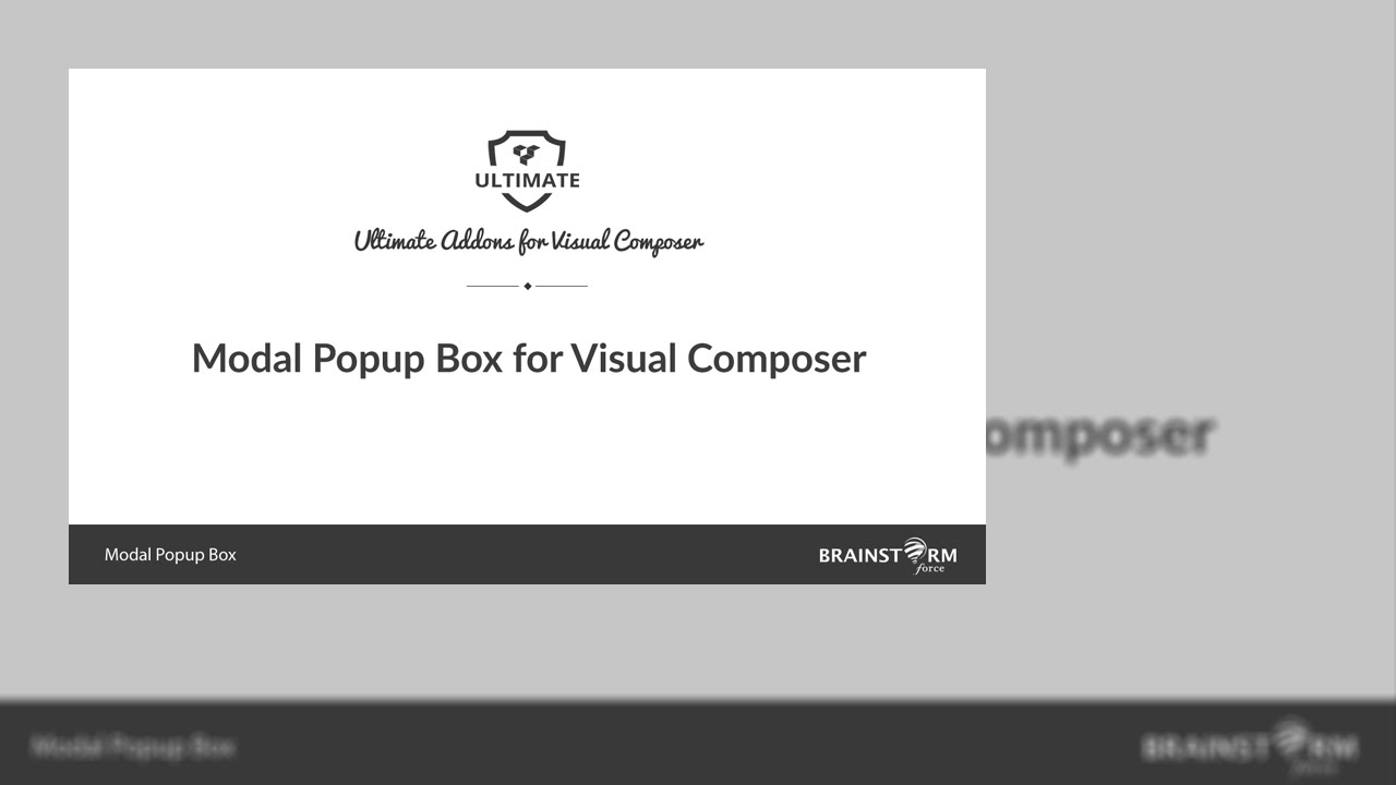 How to use Modal Popup Box in WordPress using Visual Composer