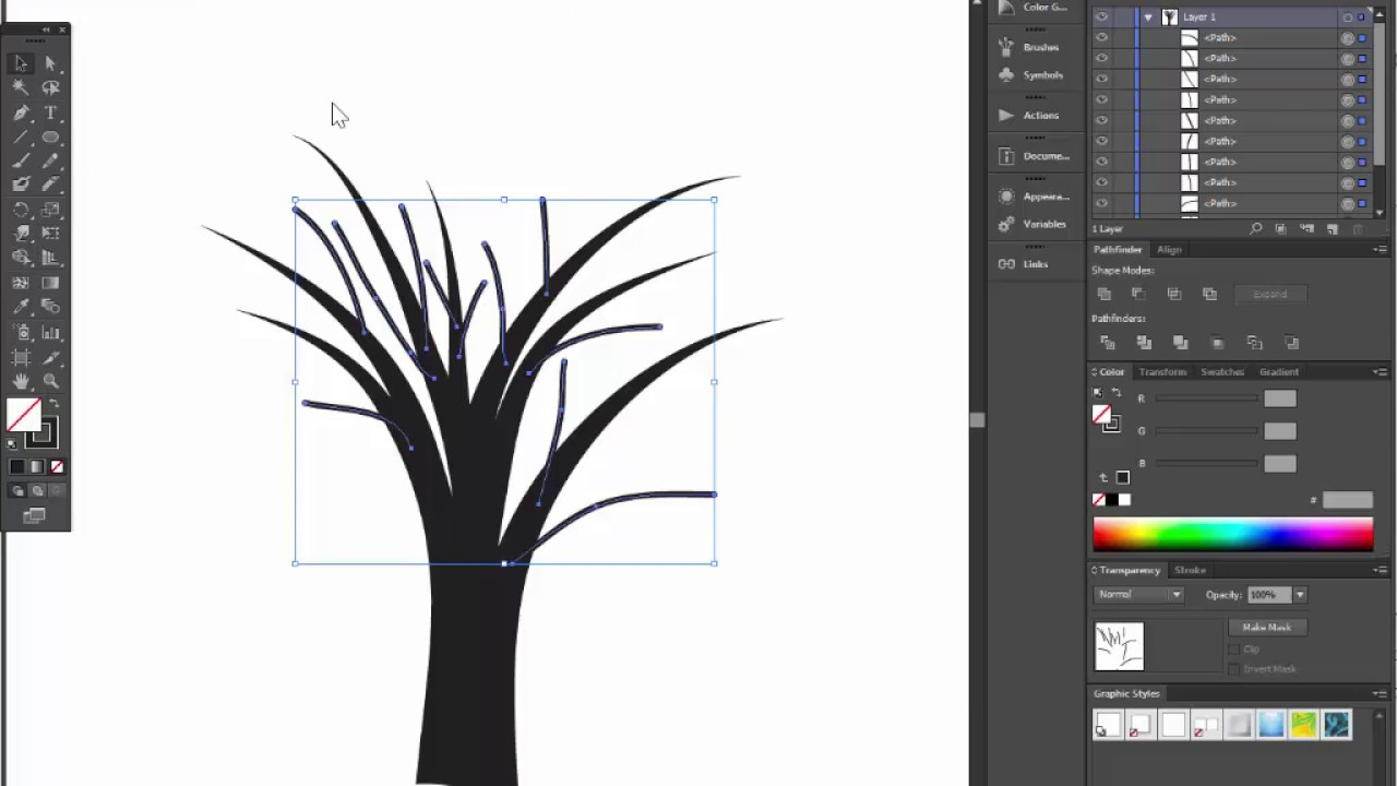 Bare tree adobe illustrator tutorial. Quick and easy way