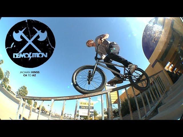 Demolition BMX: Jacman Hinss - CA to AZ