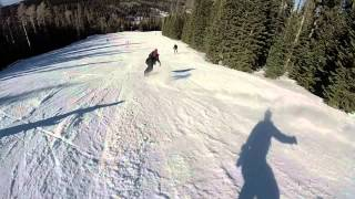 GoPro Snowboardig in Sunrise Ski Resort 2015