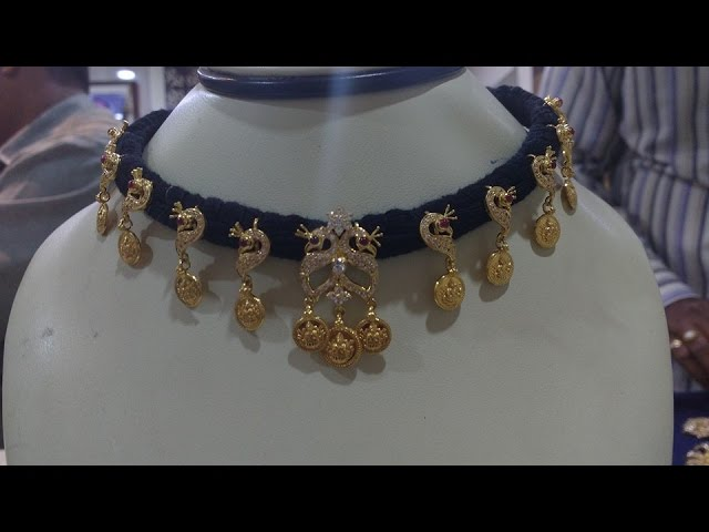 latest thread with gold jewellery