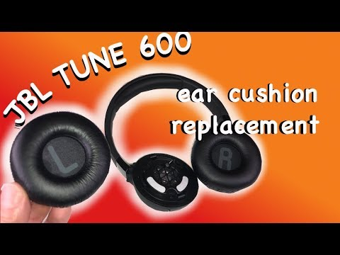 🎧 Replacing EAR CUSHIONS on the JBL TUNE600 BTNC wireless bluetooth  headphones - How to