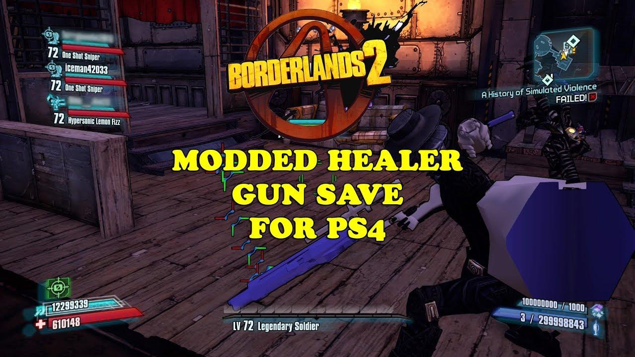 Borderlands 2 PS3/PS4 Hybrid Healer Guns & Trophy Download