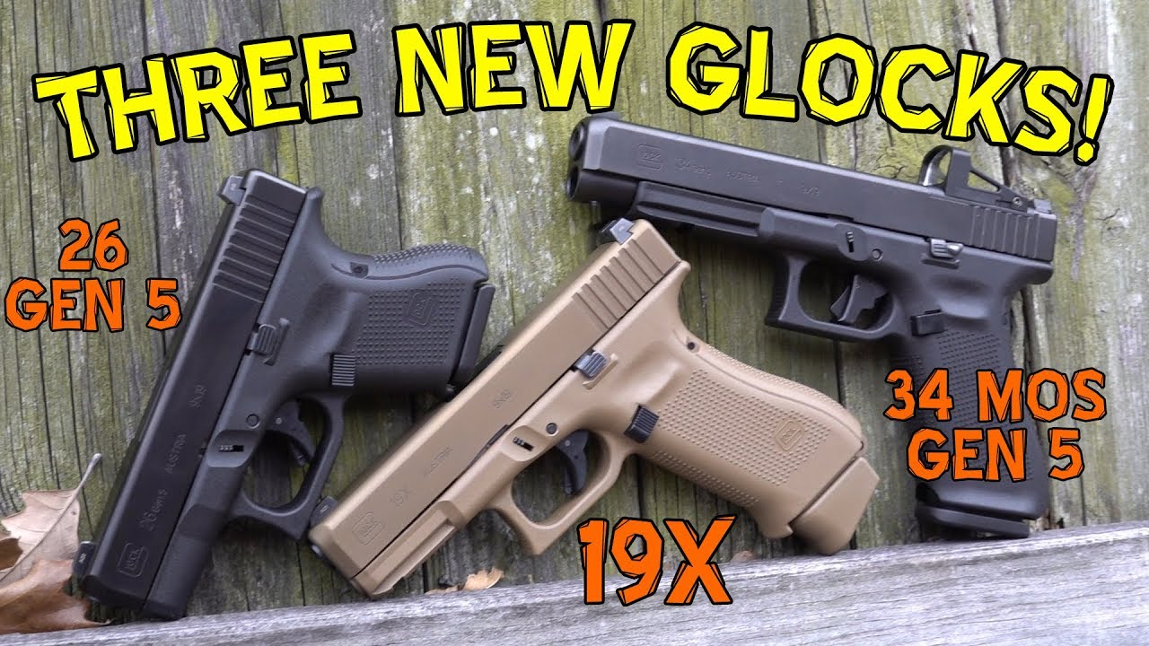 First Look at the New Glock 19X, Glock 34 Gen 5 MOS, & Glock 26 Gen 5
