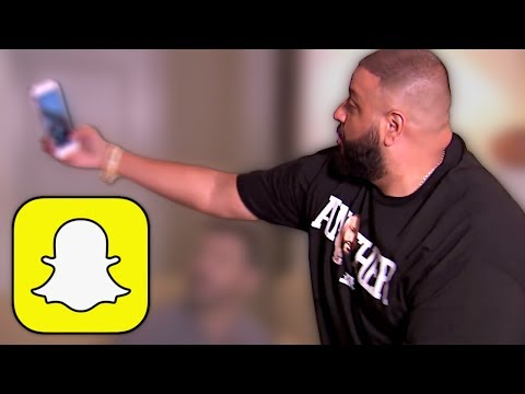 DJ Khaled demonstrates how to use Snapchat thumbnail