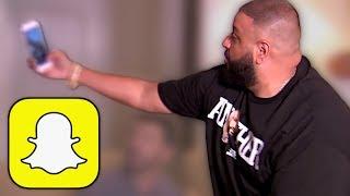 DJ Khaled demonstrates how to use Snapchat