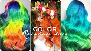 Colorful Hair ideas 💙Rainbow Color Hair Transformation! Hairstyle Tutorials Compilations