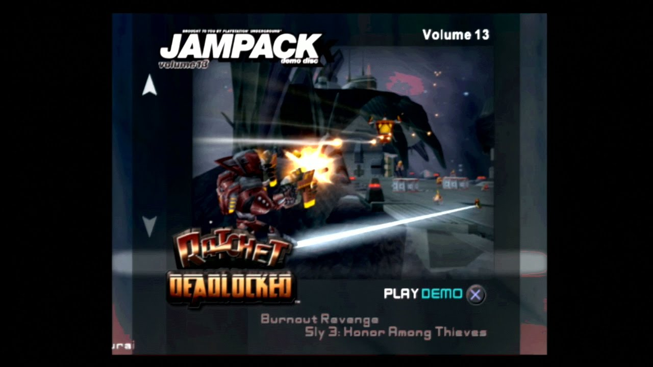 Jampack Demo Disc Volume 13 PS2 Classics Part 5 - Ratchet Deadlocked