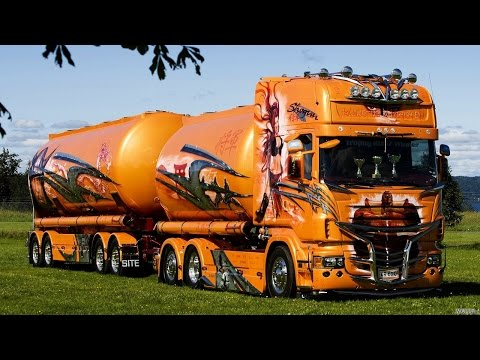 Крутые грузовики на радиоуправлении.