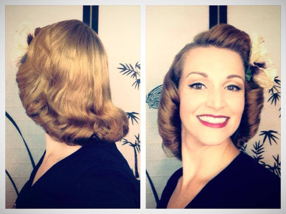 1940's 1950's pageboy tutorial-basic