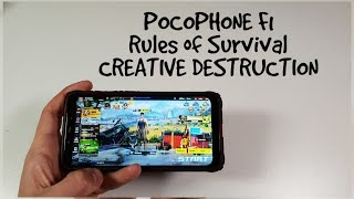 Pocophone F1 Rules of Survival/Creative Destruction Gameplay/Ultra high Graphics 60FPS New version