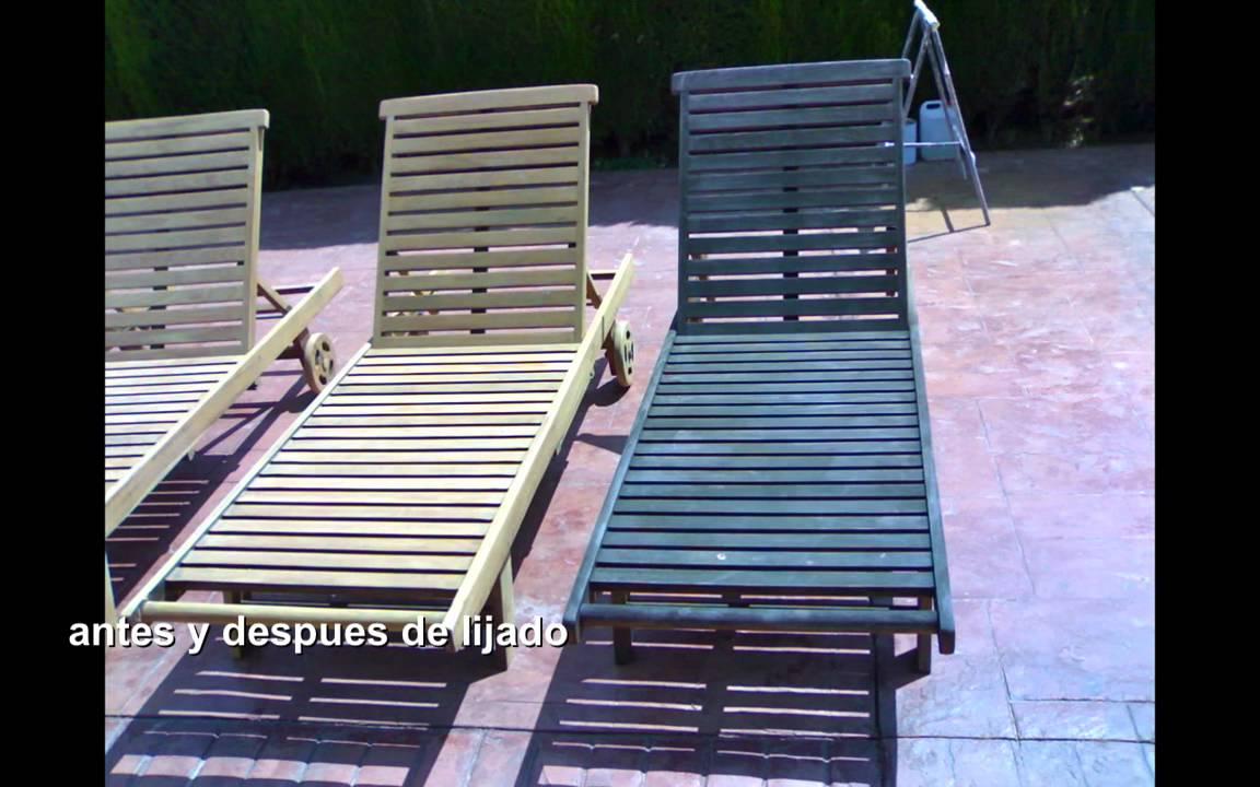 restauracion de madera teka - YouTube