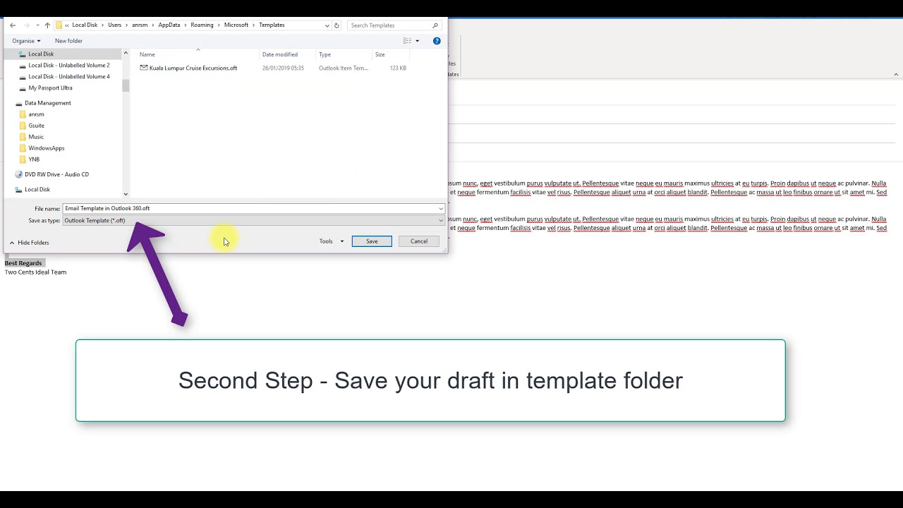 How To Create And Delete Email Template In Microsoft Outlook
