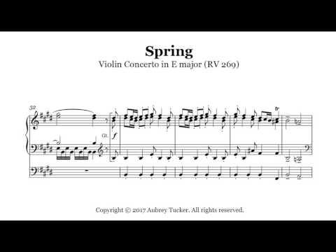 Organ: Vivaldi Spring Four Seasons  Violin Concerto in E major RV 269