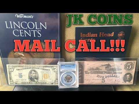 OLD MONEY! Mail call, Confederate currency! North African note! Red seals! Silver certificates!