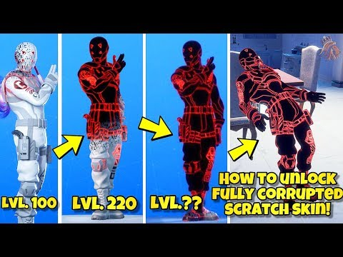 HOW TO UNLOCK FULLY CORRUPTED SCRATCH SKIN STYLE! Fortnite BR (NEW 8 BALL VS SCRATCH STYLE VIRUS)