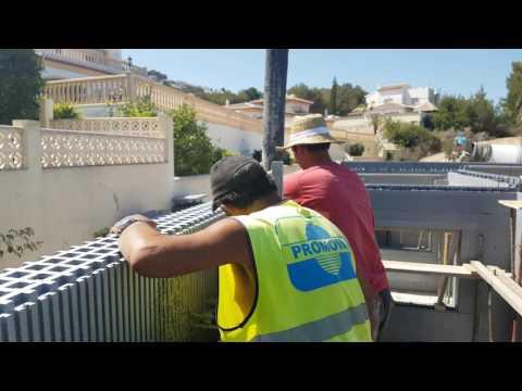 StyroStone ICF concrete pour Moraira2