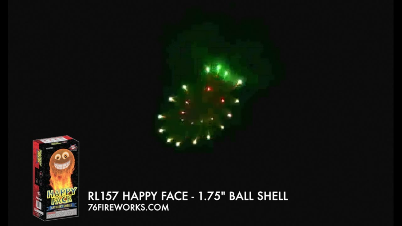 Happy Face Artillery Shells 1 75