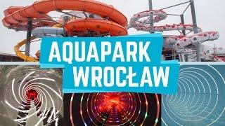 All Water Slides / Zjeżdżalnie Aquapark Wrocław, Poland (GoPro)