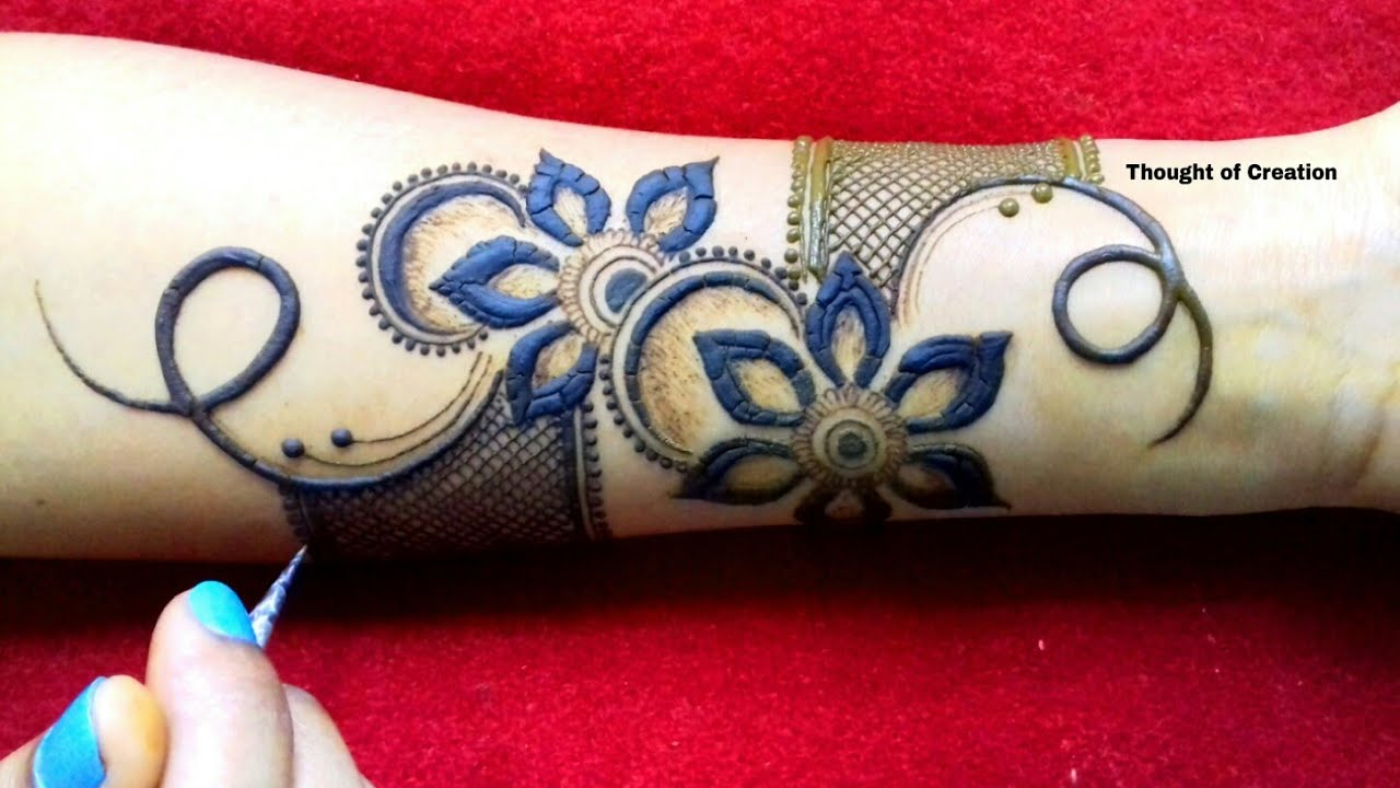 Stylish Flower Mehndi Design For Hands Thought Of Creation