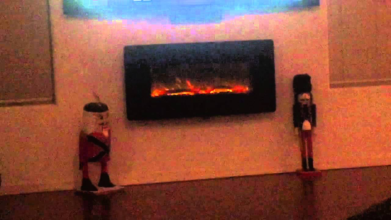 Electric fireplace is nice.