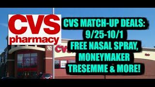 cvs match ups 9 25 10 1 free nasal spray moneymaker tresemme plus more