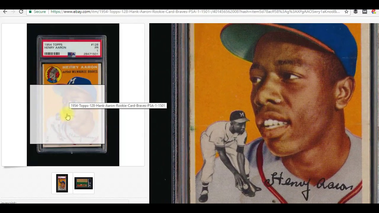 Hank Aaron Rookie Card Topps Analyzed For Value 880 Roi