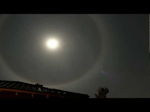 Moon Ring / 22° Halo; Feb 6, 2012