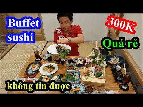 Cười ngất với thanh niên lần đầu đi ăn buffet sushi Nhật Bản
