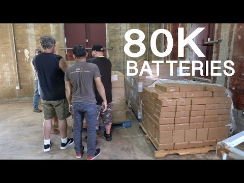 80 thousand 18650 Batteries in Puerto Rico - LIVE STREAM