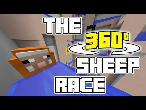 The 360° Sheep Race (VR Minecraft Marble Race)
