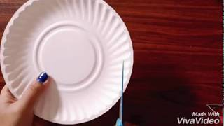 DIY | wind chimes using paper plate - best from waste craft ideas