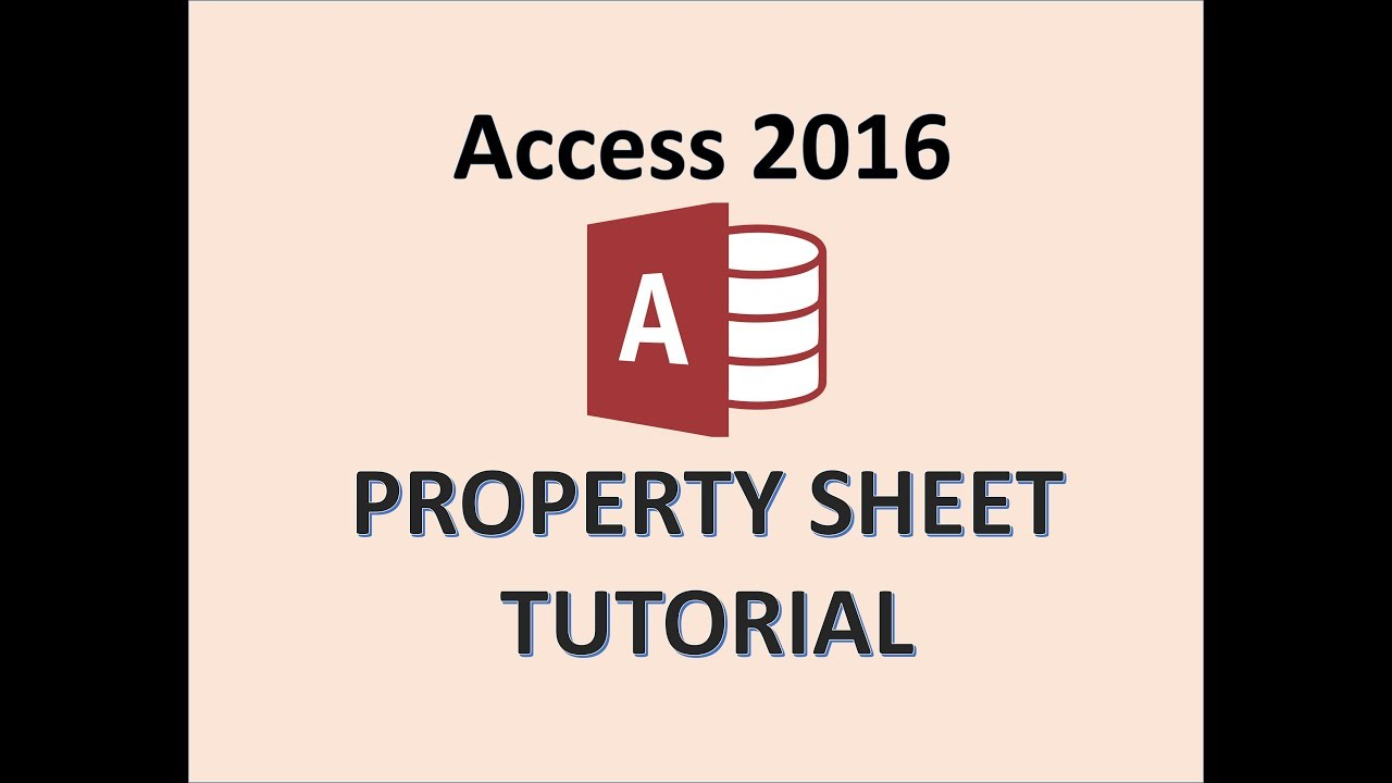 Access 2016 - Property Sheet - How To Use the Properties in Microsoft Database Report Table Tutorial
