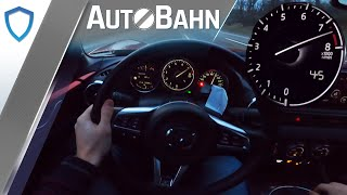 Mazda MX-5 ND Roadster 2.0 (2020) - 184 PS - Top Speed POV Drive - Deutsche AutoBahn