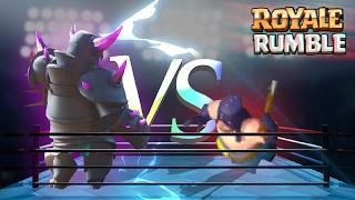 royale rumble boia vs tutte le leggendarie di clash royale