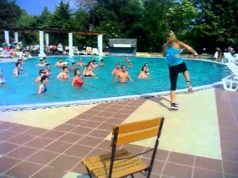 Aqua Zumba(R) Class with Sanda Kruger at VALURI, Neptun Romania