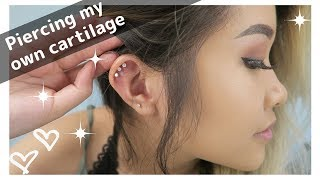 Piercing my triple cartilage AT HOME