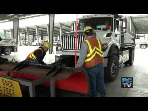 County road crews get ready for snow and ice conditions