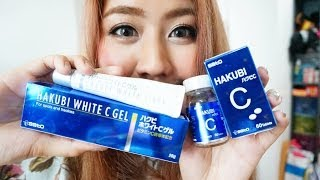 [Skincare & Dietary Supplement] REVIEW : HAKUBI WHITE C เจลและอาหารเสริมวิตามินซี