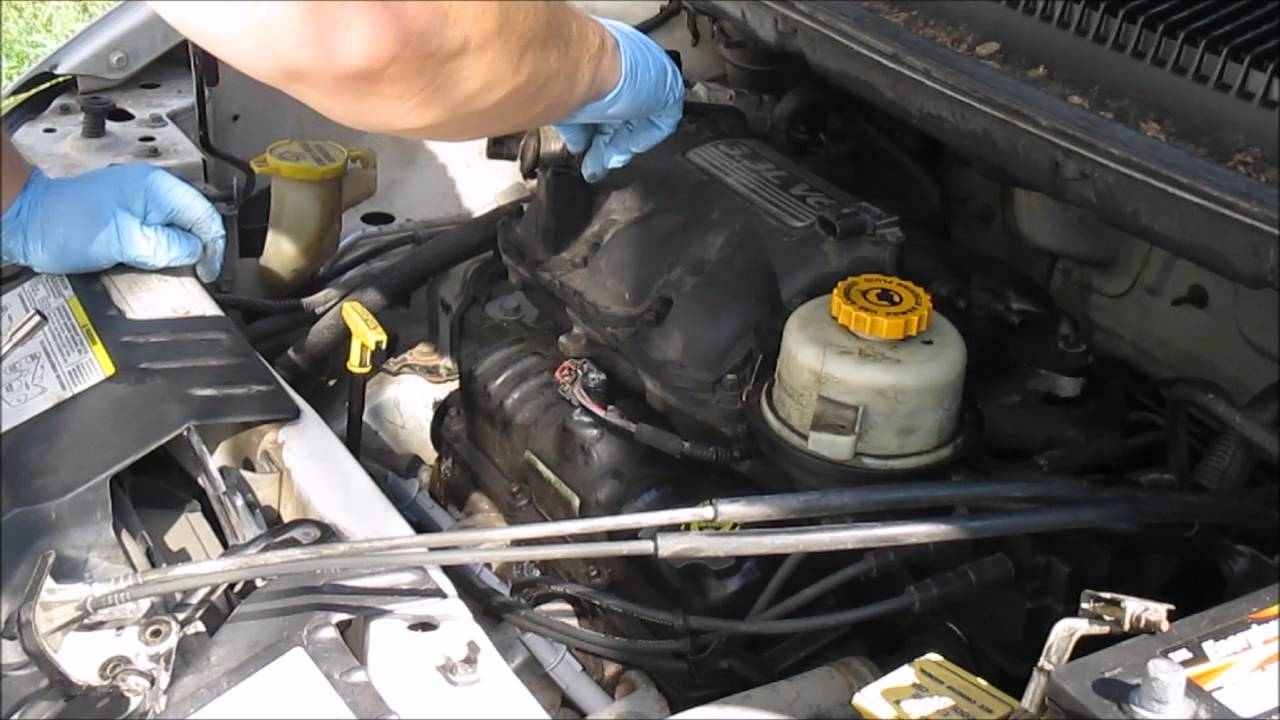 how to replace valve cover gaskets dodge caravan part 1 [ 1280 x 720 Pixel ]