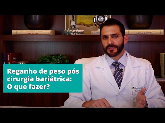 Reganho de peso pós cirurgia bariátrica: O que fazer?