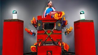 ULTIMATE NERF BOX TOWER CHALLENGE!