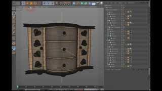 Corner Cabinet Drawer And Base Mesh 3d Model Preview