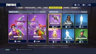 "FORTNITE BOUTIQUE From September 23Th New Skins ""GRIPPE-FOU"" - ""ARLEQUINE"""