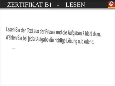 Goethe und Ösd Zertifikat B1 NEU - B1 Prüfung test- Lesen