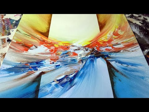 Abstract Painting / DEMO 49 / Abstract Art / Blending Acrylics / Painting Techniques