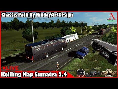Euro Truck Simulator 2 : [LIVE] #24 Keliling Sumatra pake Bus yuk..... Eps.1