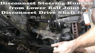 Part 1 (of 10) Remove Engine & Tranny - Rebuild 1994 Toyota Camry Engine & Transmission 5SFE & A140E(Part 1 of 10 Complete engine and transmission overhaul of a 1994 Toyota Camry. This video shows removal of the engine and transmission from the car., 2011-12-31T01:51:50.000Z)