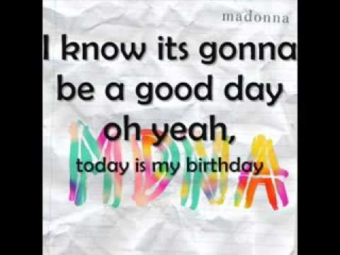 B Day Song Lyrics on Screen-Madonna