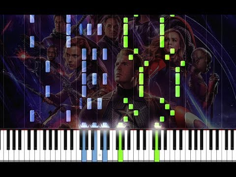 "AVENGERS: ENDGAME Soundtrack: ""The Real Hero"" By Alan Silvestri Piano Tutorial On Synthesia"